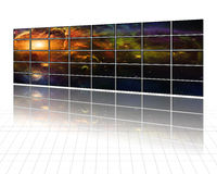 Galaxies and stars on screens Stock Image
