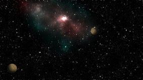 Galaxstjärnor i designen för abstrakt begrepp för universumyttersidajord den grafiska tapetserar kortet 3d Fotografering för Bildbyråer
