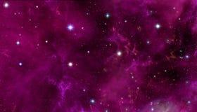 Galaxstjärnor med nebulaen vektor illustrationer
