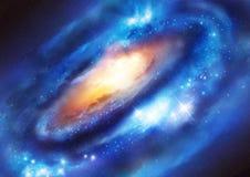 Galaxsystem royaltyfri illustrationer