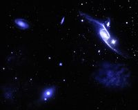 Galaxy. Nebula and planets of the Galaxy Royalty Free Stock Image