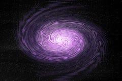 Galaxy. Purple galaxy on black background Stock Photography