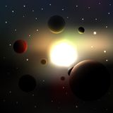 Galaxy. Abstract planets and stars,  illustration Vector Illustration