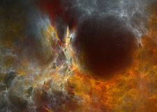 Galaxy. Distant stars against the background of the galaxy in outer space royalty free illustration