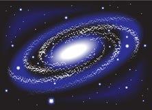 Galaxy. And stars black hole stock illustration