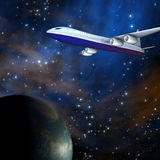 Galaxy airline Stock Photo