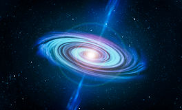 Free Galaxy And Black Hole In Center Stock Photography - 70724172