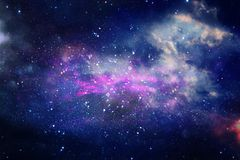 Galaxy And Nebula . Starry Outer Space Background Texture. Stock Image
