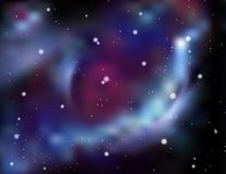 Galaxy background. Abstract vector illustration Royalty Free Stock Photos