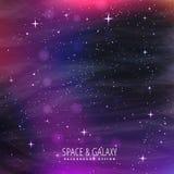 Galaxy background design. Vector illustration Stock Image
