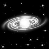 Galaxy background. Galaxy planet in black starry background Stock Image