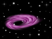Galaxy background. Galaxy planet in black starry background Stock Photo