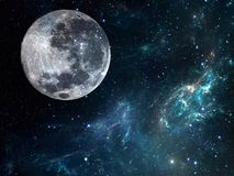 Galaxy background with planet. Cosmic illustration Stock Image