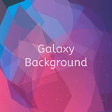 Galaxy background polygonal vector illustration. Galaxy background. Multicolored galaxy background. Texture for print, mobile and web. Polygonal vector Stock Image