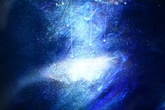 Galaxy background, sprinkle white dust on dark blue background. stock images