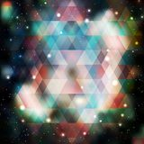 Galaxy background of triangle shapes Stock Photo