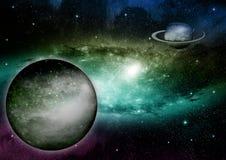 galaxy bezpłatna przestrzeń Obraz Stock