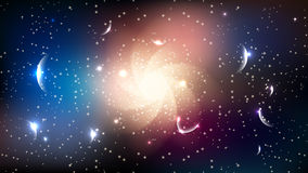 Galaxy black hole stars planets space abstract background Royalty Free Stock Photography