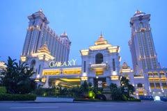 Galaxy Casino in Macau, China. Macau, China - January 27, 2013: Buildings of Macau Galaxy casino on January 28, 2013, Galaxy Casino is the landmark of Macau city stock image