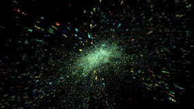 Galaxy. Colorful galaxy fading so fast stock video footage