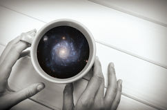 Galaxy in the cup Royalty Free Stock Photography