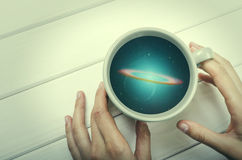 Galaxy in the cup Royalty Free Stock Photo