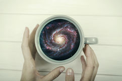 Galaxy in the cup Royalty Free Stock Photos