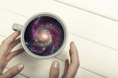 Galaxy in the cup Stock Photography