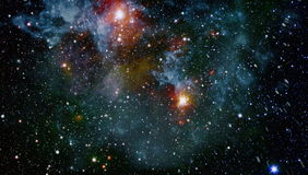Galaxy - Elements of this Image Furnished by NASA. Stars and galaxies in outer space showing the beauty of space exploration. Elements furnished by NASA stock photography