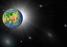 Galaxy and erarth Stock Image