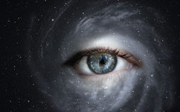 Galaxy with eye. Stock Photography