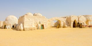 A galaxy far, far away where everything was different the Sahara desert, Tunisia, Africa royalty free stock photography