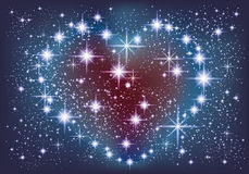 A galaxy in the form of a heart. Royalty Free Stock Photos
