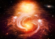 Galaxy in a free space Royalty Free Stock Images