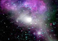 Galaxy in a free space Stock Photography