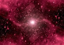 Galaxy in a free space Stock Images
