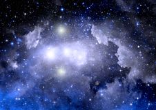 Galaxy in a free space Stock Photos