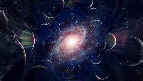 Galaxy. In endless spaces. Fractal stock illustration