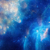 Galaxy illustration, space background with stars, nebula, cosmos clouds Stock Image