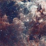 Galaxy illustration, space background with stars, nebula, cosmos clouds. On starry sky Royalty Free Stock Images