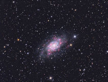 Galaxy. Imaged with a telescope and a scientific CCD camera royalty free stock photography