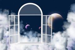 galaxy inny okno Fotografia Royalty Free