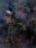 galaxy mężczyzna umysł ilustracja wektor