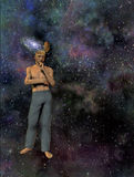galaxy mężczyzna umysł ilustracji