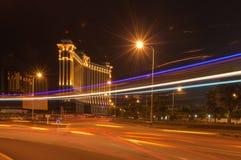 Galaxy Macau. Lights across the lines to add to the beauty of Macau night scenery Royalty Free Stock Photos