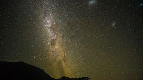Milky Way Exposure. The galaxy makes another debut on another clear night Royalty Free Stock Photo