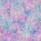 Galaxy Marble Effect Print in Tonal Palette. Marble effect print in tonal pink, blue and lilac palette. Old, worn effect with contrast dark cracks. Seamless all Stock Photo