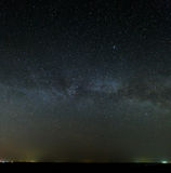 Galaxy Milky Way in the night sky with bright stars. Astrophotog Stock Photography