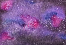 Galaxy or Milky Way. Watercolor space or cosmic Royalty Free Stock Image