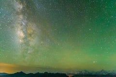 The Galaxy of Minya Konka snow mountain Stock Image